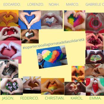"""""""Noi ci mettiamo il cuore""""                                           #iopartecipoallagiornatadellasolidarieta   scuola primaria """"Don Milani"""" Palaia (PI) classe II"""