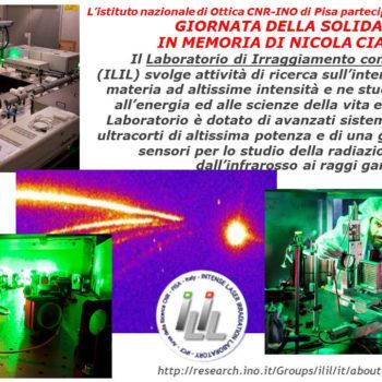 Laboratorio di Irraggiamento con Laser Intensi