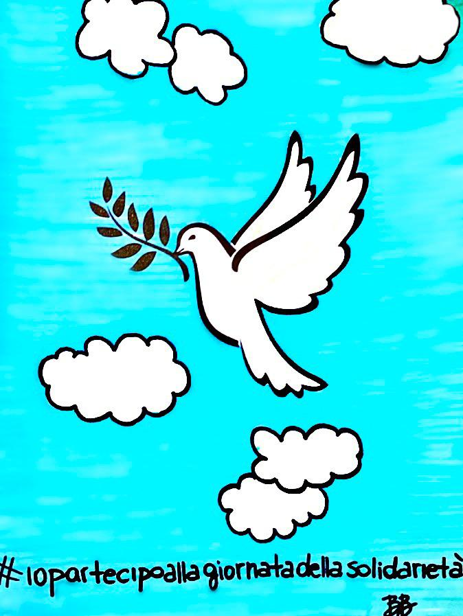 La colomba della solidarietà